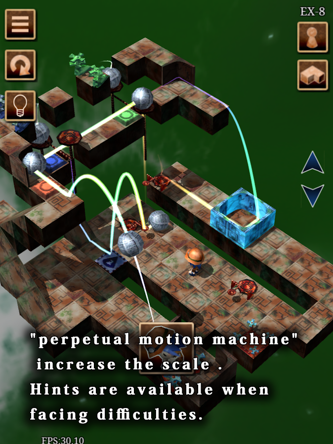 Pythagoras' Perpetual Motion Machine- screenshot