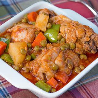 Chicken Caldereta.