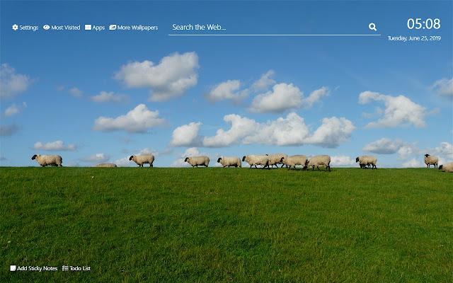 Sheep Wallpaper HD New Tab Theme