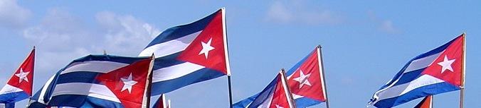 Photo: cuban flags. tracey eaton photo.