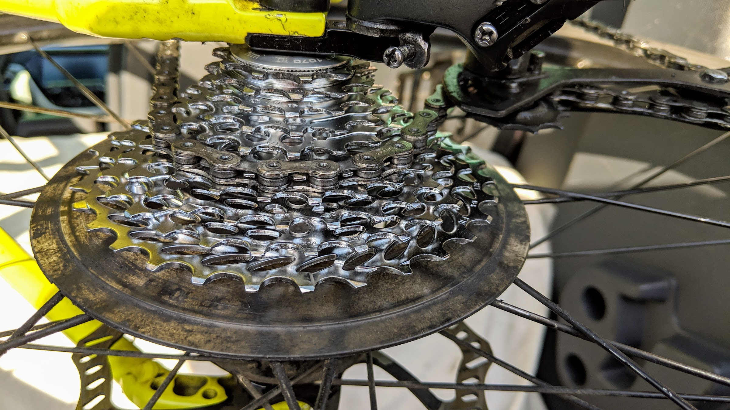 New drivetrain on bicycle