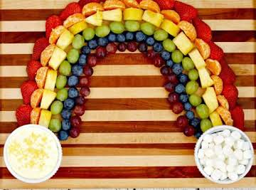 Pot O' Gold Fruit and  Cheesecake Dip