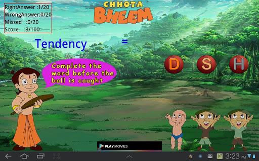 Quick Word Game with Bheem