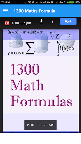 Download 1300 Maths Formula APK latest version App by Umesh