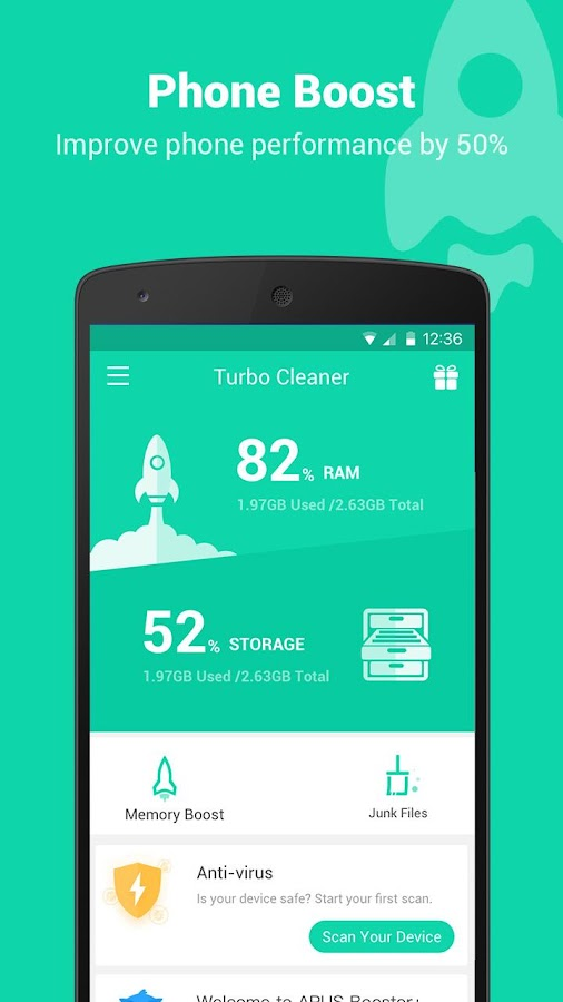 Screenshots of Turbo Cleaner - Boost, Clean for iPhone