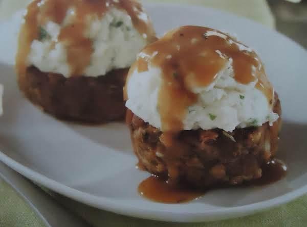 My Potato-topped Mini Meatloaves Recipe