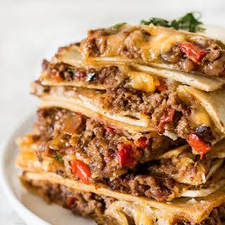 Quesadillas in the oven (Sheet Pan Quesadilla recipe).