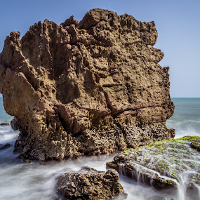 by Murthy Putrevu - Landscapes Beaches ( #rocks #beach #longexposure #sea )