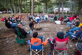 Photo: gathering around the campfire