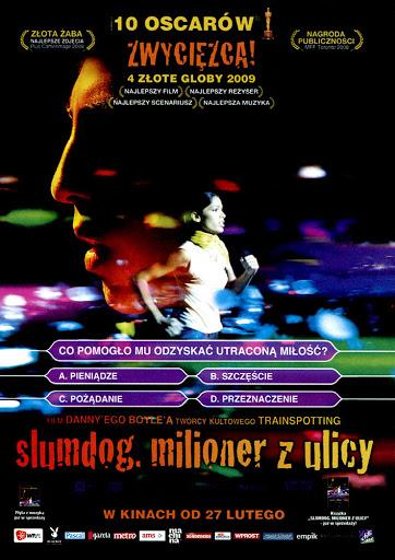 Przód ulotki filmu 'Slumdog. Milioner Z Ulicy'