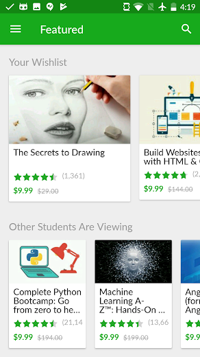 Screenshot 6 for Udemy's Android app'