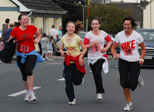 Photo: Moycarkey ladies racing for the line in the 3km Fit4Life Race