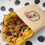Kimchi and Mozzarella Waffle