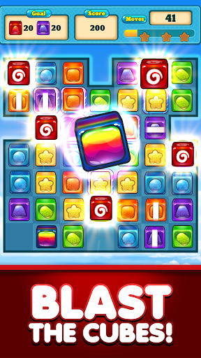 Match 3 Candy Cubes Puzzle Blast Games Free New 1.0.2 Mod screenshots 3