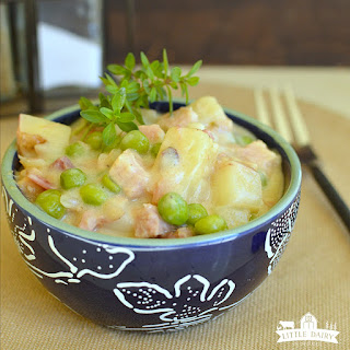 Slow Cooker Creamed Peas, Potatoes, and Ham