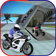 Game US Police Airplane: Kids Moto Transporter Games APK for Windows Phone