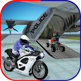 US Police Airplane: Kids Moto Transporter Games