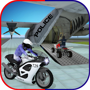 Police Plane Transporter: Moto for PC and MAC
