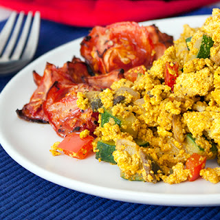 Tofu Scramble with Roasted Tomatoes