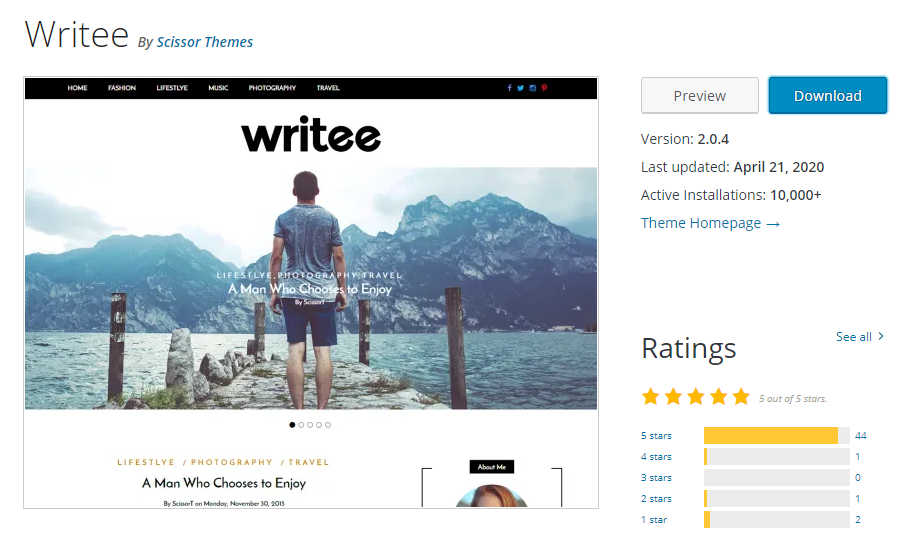 Writee-responsive-theme