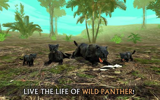 Tu00e9lu00e9charger Wild Panther Sim 3D APK MOD (Astuce) screenshots 1
