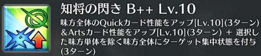 知将の閃き[B++]