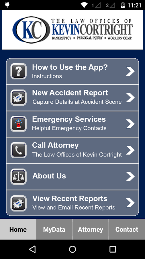 Accident App by KevinCortright- screenshot
