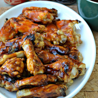 Grilled Wings with Asian Sauce