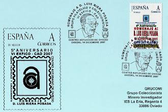 Photo: Matasellos homenaje a Luis Riera Posada en el Centro Asturiano 2007
