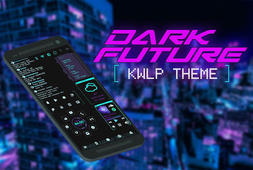 Screenshot for Dark Future Theme for KLWP in United States Play Store