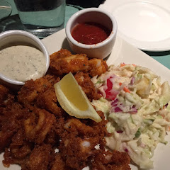 Gluten free calamari with pineapple slaw, it was amazing!! I've missed calamari since discovering I'm gluten-intolerant.