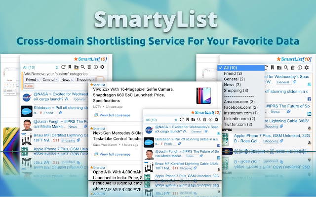 SmartyList - Shortlist Anything Intuitively