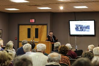 Photo: Dr. Paula Holoviak, speaker on daily life of Lemko immigrants in the Anthracite Region of Pennsylvania