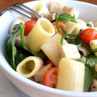 Italian Caprese Pasta Salad.