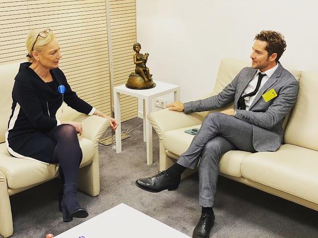 Charlotte Petri Gornitzka, directora adjunta de UNICEF, junto a David Bisbal. (Foto: @davidbisbal).