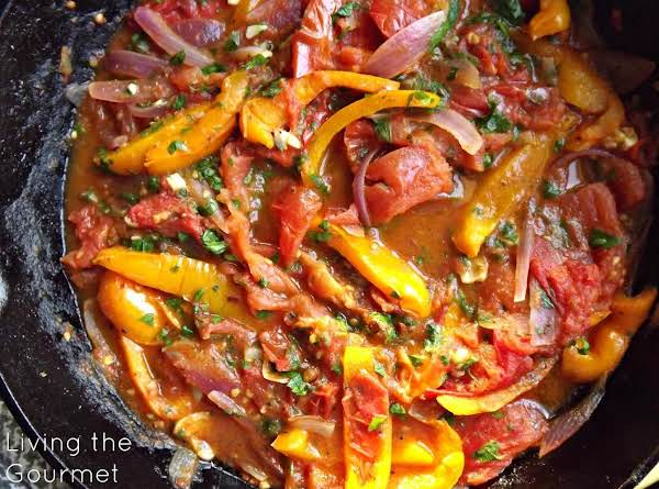 Sautéed Peppers With Tomatoes Recipe
