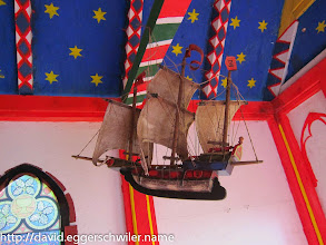 Photo: Model of the Dorothée in the Chapel of St. Clara