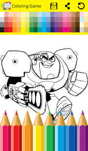 Coloring Game Titans Go