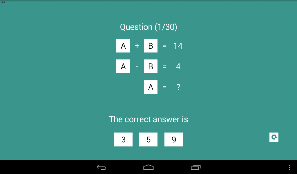 Linear Equation Quiz- screenshot