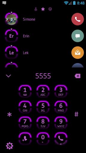 Neon Purple Contacts & Dialer screenshots 2
