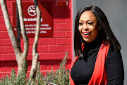 JULY 29: Media personality and TV presenter Minnie Dlamini-Jones hosts the Absa Premiership launch at Absa Contact Centre in Johannesburg, South Africa.