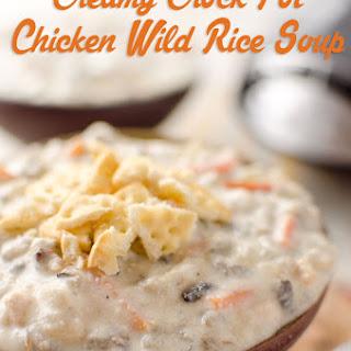 Creamy Crock Pot Chicken Wild Rice Soup.