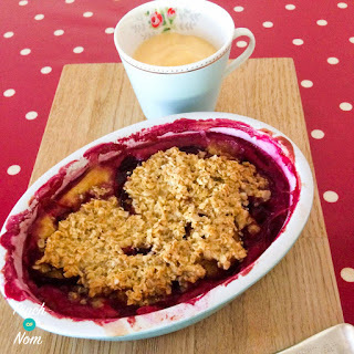 Low Syn Plum Crumble Baked Oats | Slimming World