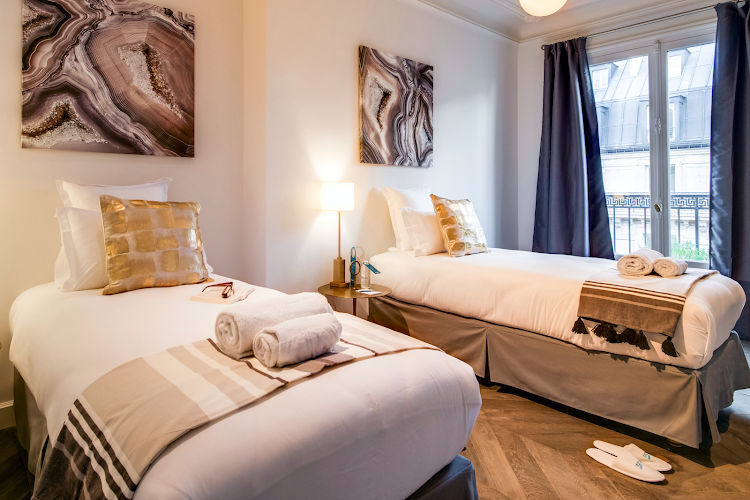 Luxury bedroom at Place Des Victoires