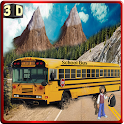 Offroad School Bus hill climb icon