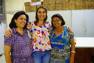 Photo: Ângelis Farias, Nadia Roque e Lenise Guedes no ALCB.