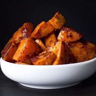 Maple Glazed Sweet Potatoes.