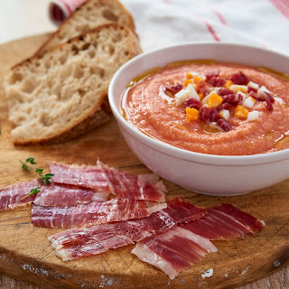 Salmorejo With Jamón Ibérico (for 6 People As A Tapa)