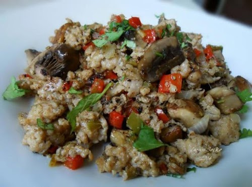 """Low Carb Sausage and Mushroom Hash """"I did NOT miss the potatoes..."""