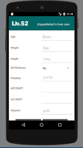 Liv52 Fibrosis Calculator 1.0 screenshots 1